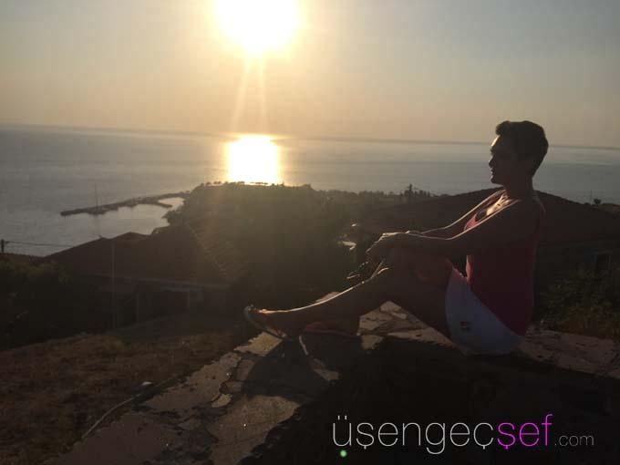 usengec-sef-sunset-molyvos-midilli-yunan-adalari