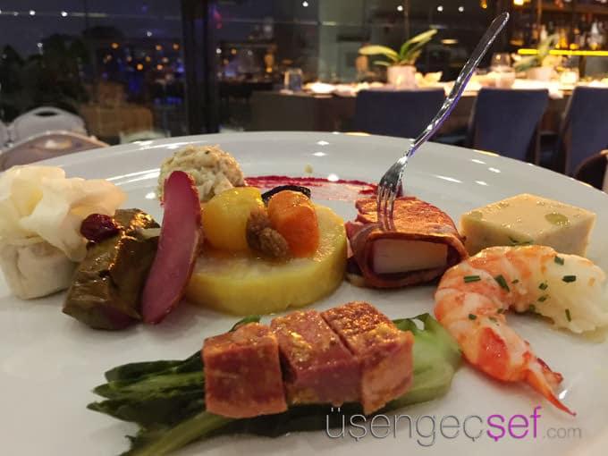ouzo-roof-restaurant-wyndham-grand-kalamis-balık-meze
